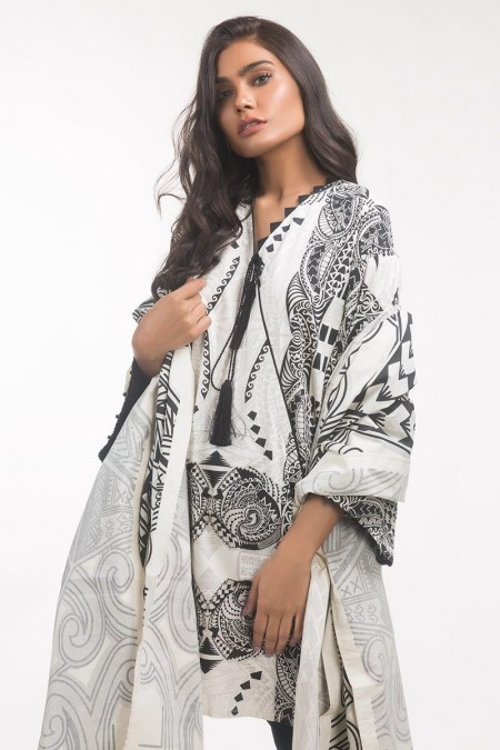 Gul Ahmed Monochrome Collection Lawn 2 PC Outfit IPS-19-132
