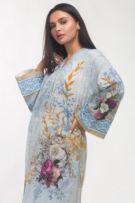 Gul Ahmed Printed Lawn Shirt GLS-19-256 DP