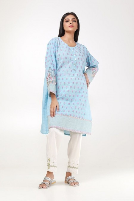 Khaadi Embroidered Kurta ETEJ19461-Blue