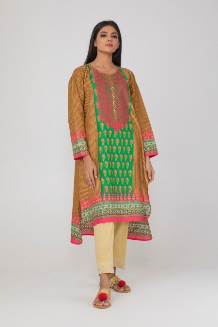 Khaadi Embroidered Kurta with Pants KPPE19482-Green