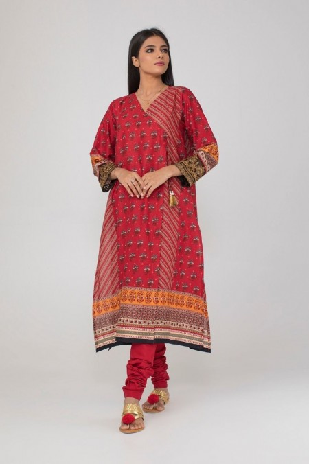 Khaadi Embroidered Kurta with Pants KPPE19483-Maroon