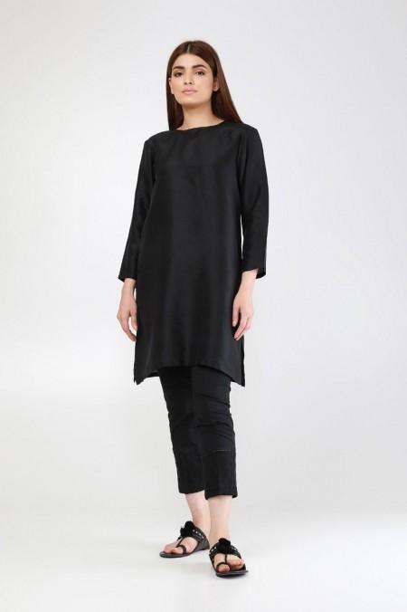 Khaadi Embroidered Metallica Pants WMPE19204-Black