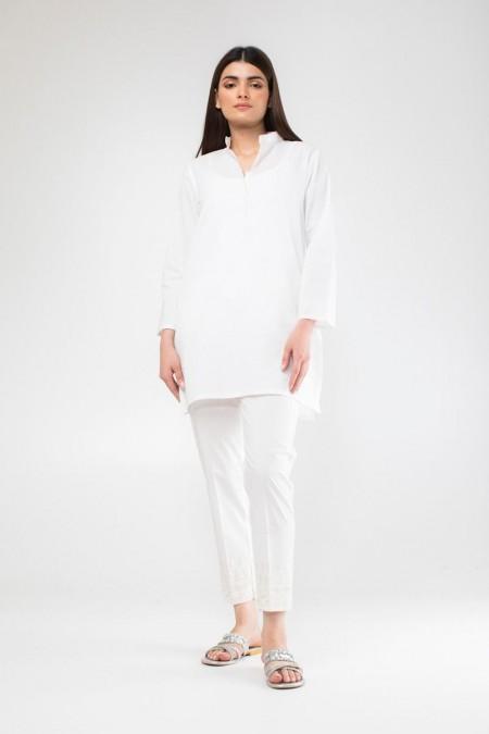Khaadi Embroidered Pants WEB19201W-White