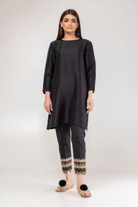 Khaadi Embroidered Pants WEB19202B-Black