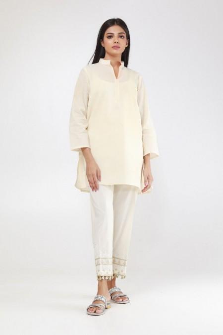 Khaadi Embroidered Pants WEB19202O-Off-White