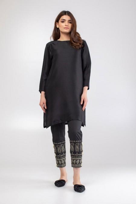 Khaadi Embroidered Pants WEB19203B-Black