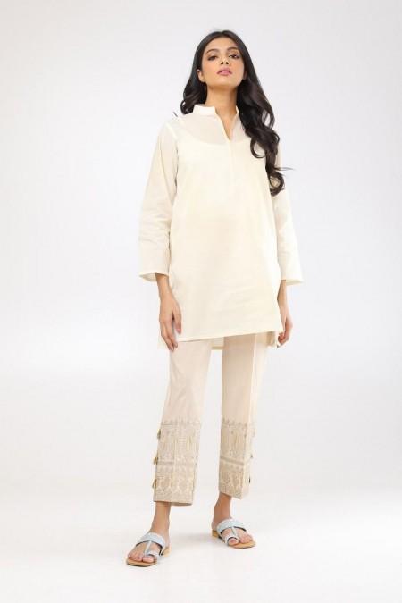 Khaadi Embroidered PantsWEB19203BG-Beige