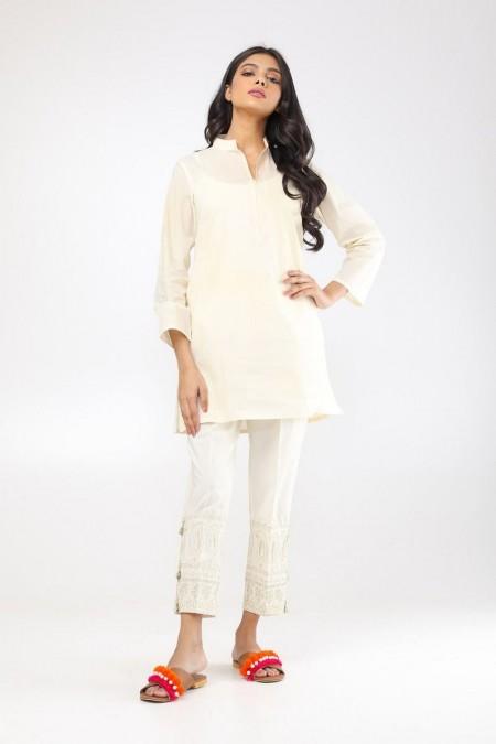 Khaadi Embroidered PantsWEB19203O-Off-White