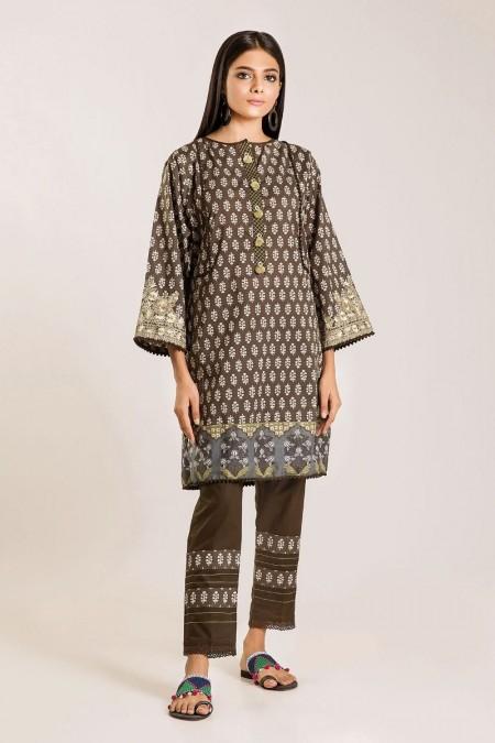 Khaadi Shirt Shalwar I19414-Brown-2Pc