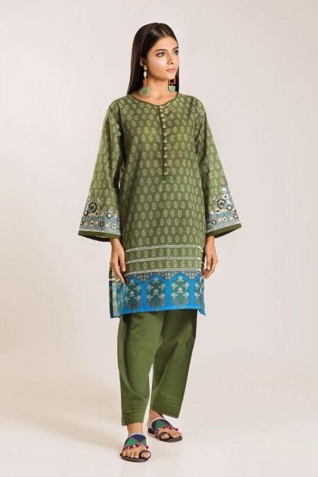 Khaadi Shirt Shalwar I19414-Green-2Pc