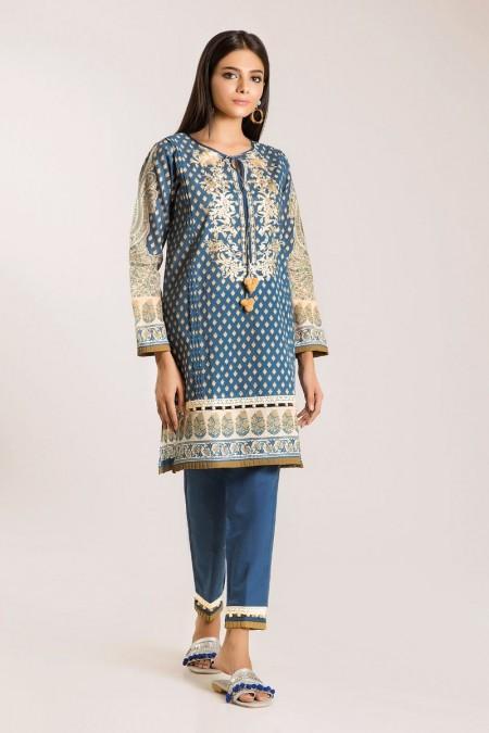 Khaadi Shirt Shalwar I19415-Blue-2Pc