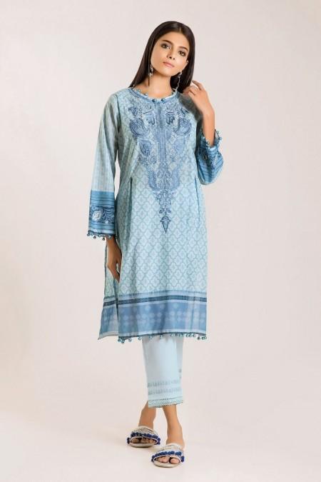 Khaadi Shirt Shalwar I19417-Blue-2Pc