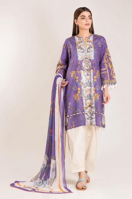 Khaadi Shirt Shalwar Y19404-Purple-2Pc