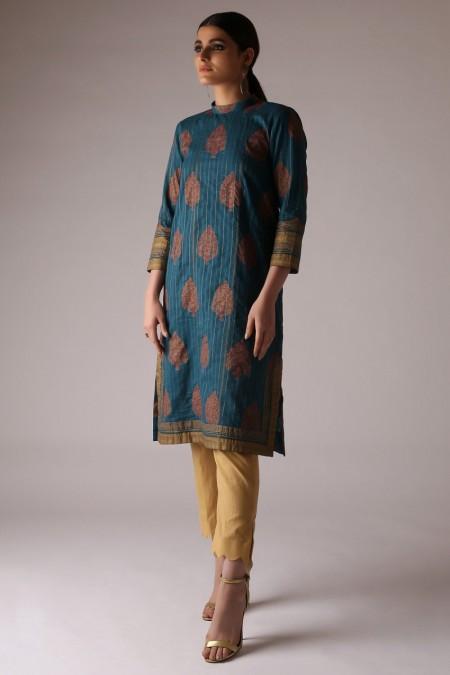 Alkaram Studio Printed Zarri Shirt (Sold by Per Meter)