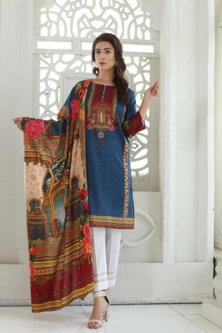 So Kamal DPL19-238 Suit Embroidered 2 Pc