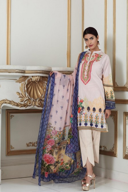 So Kamal DPL19-267 Suit Embroidered 2 Pc