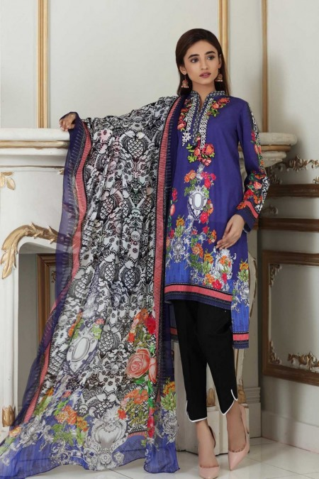 So Kamal DPL19-268 Suit Embroidered 2 Pc