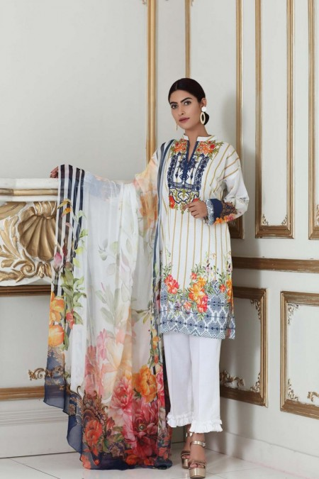 So Kamal DPL19-309 Suit Embroidered 2 Pc