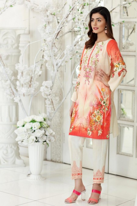 So Kamal DPL19-567 Suit Embroidered 2 Pc