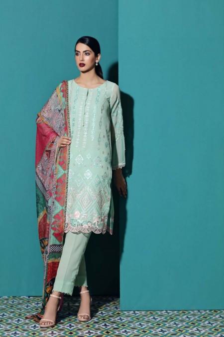 So Kamal DPW18 879 Suit Chiffon 3 Pc