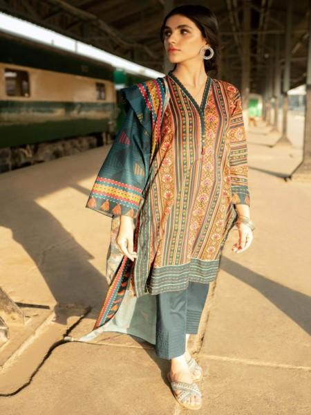 Zeen Woman Stitch 2 Piece Cambric WL294005-Blue