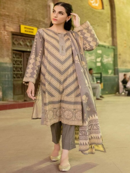 Zeen Woman Stitch 2 Piece Cambric WL294006-Ash