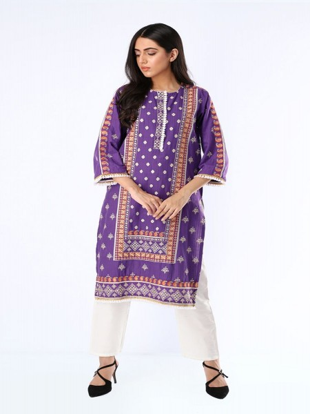 Zellbury Kurta Dobby Jacquard ZWUTFE219256-Light Purple