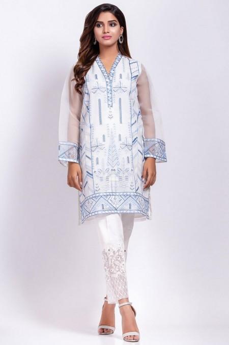 Zeen Woman 1 PC Stitched Suit - Organza
