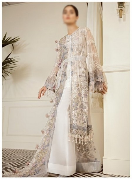 Baroque Chantelle Embroiderd ChiffonAK-CEC V-06 D-09 PEWTER
