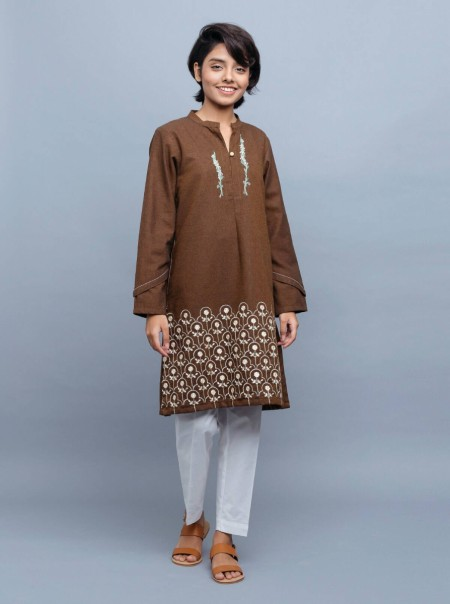 BeechTree Embroidered Shirt BTW19-CH-325-Mustard