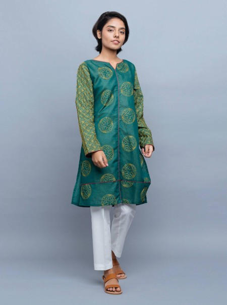 BeechTree Embroidered Shirt BTW19-MK-47-Green