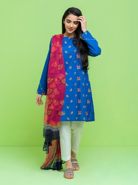 BeechTree Embroidered Shirt With DupattaBTS19-CH-330-Blue