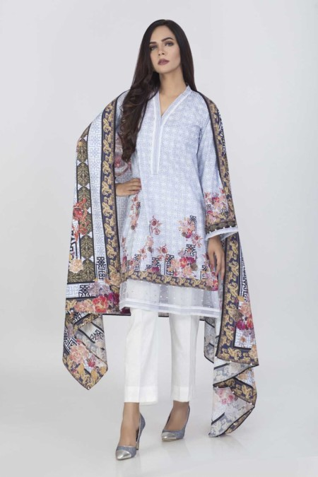 Bonanza Satrangi Blue-Cambric-SuitBSSK92P021-BLUE