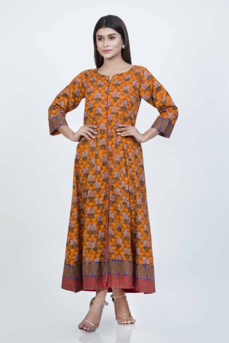 Bonanza Satrangi Orange-Cambric-kurti-BSSK91P051-ORANGE