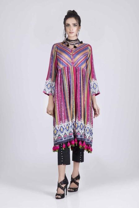 Bonanza Satrangi Winter Unstitched Collection 19 CARNATION - 1 PC