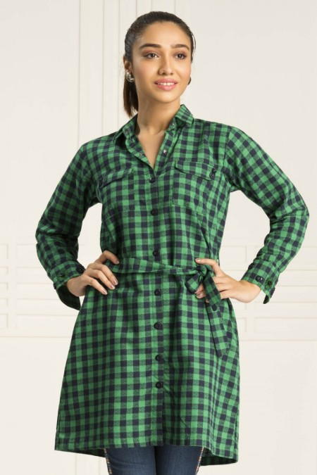 By The Way Green Gingham WRH0681-XSM-GRN