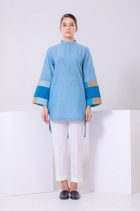 Chapter 2 Handwoven Blue Top C2TFS19304-Blue