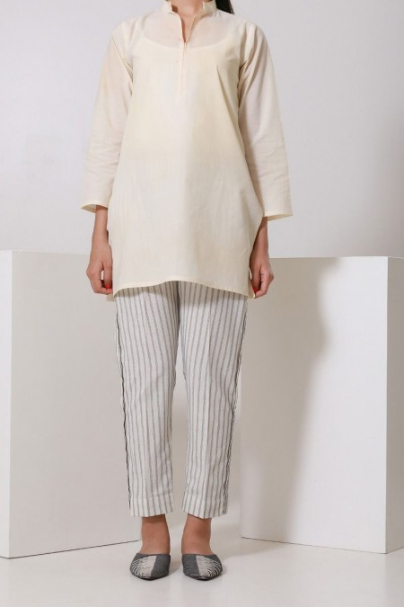 Chapter 2 Handwoven Off-White Pants C2BS19310-Off-White
