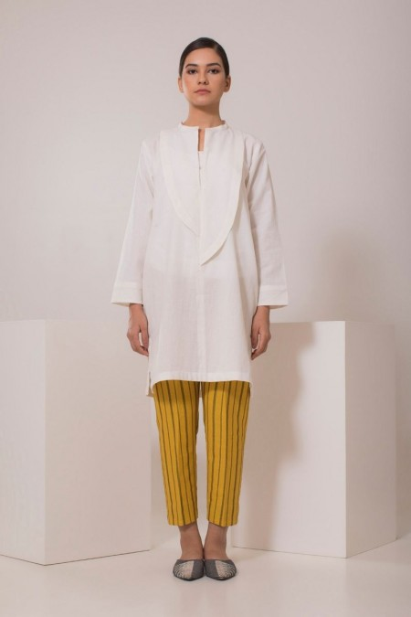 Chapter 2 Handwoven White Top C2TF19302-White