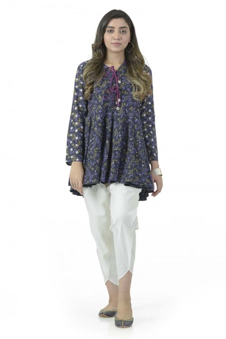 Ego Fall19 Collection Bling Navy Kurta EGN-030