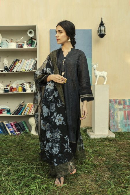 Ethnic by Outfitters Casual Suit (Shirt + Dupatta)WTC491284-10218787-14-UA-28