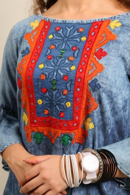 Generation Boho Folk embridered tunic W191126