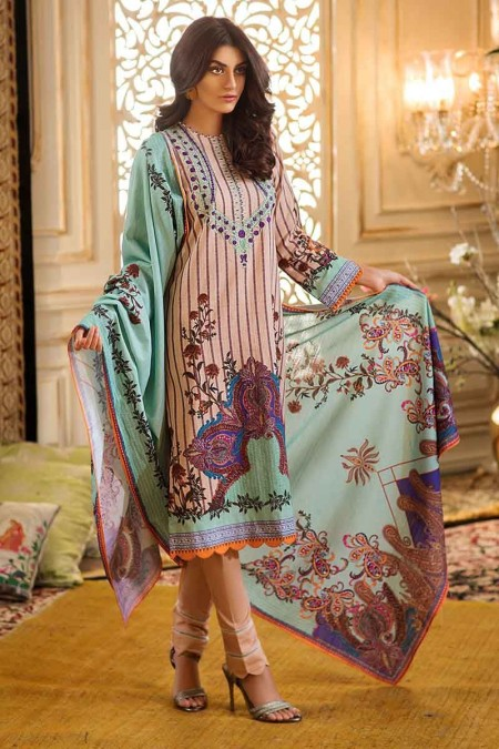 Gul Ahmed Winter unstitched Collection Light Peach TK-24