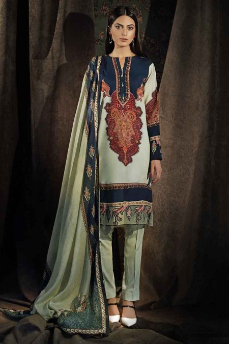 Gul Ahmed Winter unstitched Collection Pista CD-33
