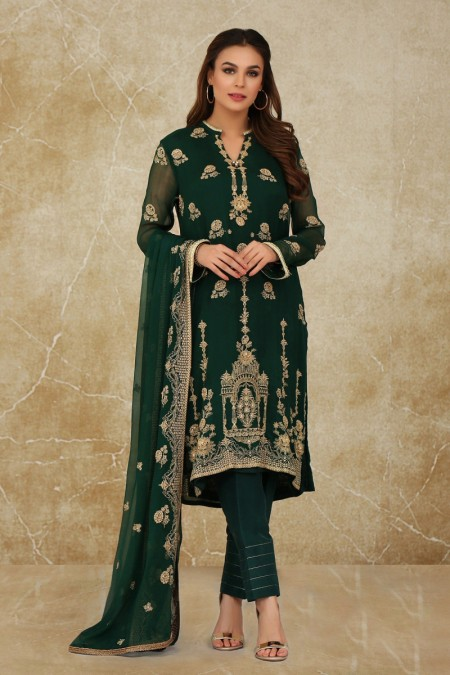 Kayseria dyed, embroidered and embellished 2pc suitKPN-174