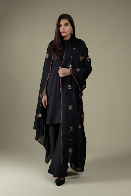 Kayseria Dyed & Embroidered DupattaKPN-101