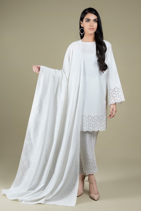 Kayseria Dyed & Embroidered DupattaKPN-108