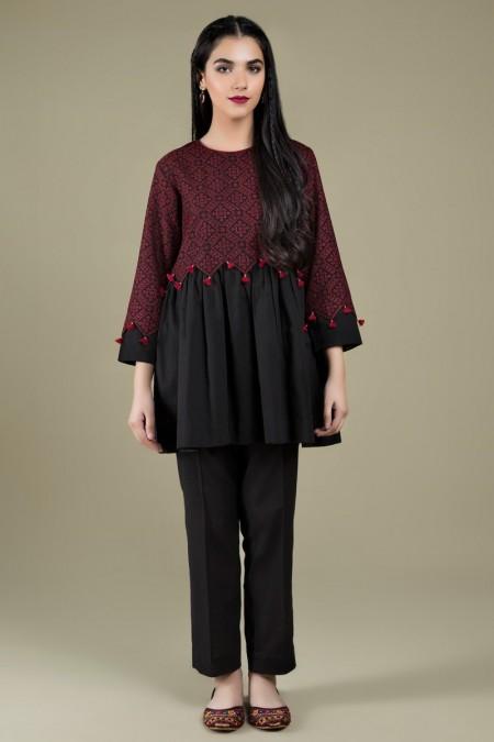 Kayseria Dyed & Embroidered ShirtKPN-176
