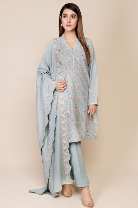 Kayseria Dyed & Embroidered Suit KPN-044