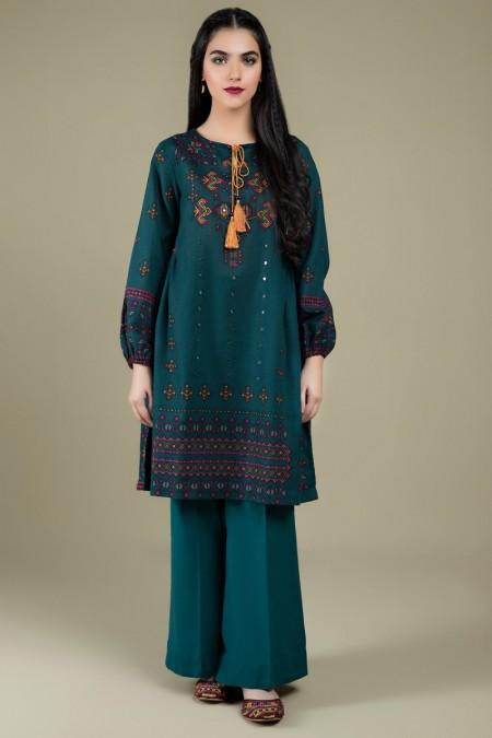 Kayseria Printed & Embellished ShirtKPN-169